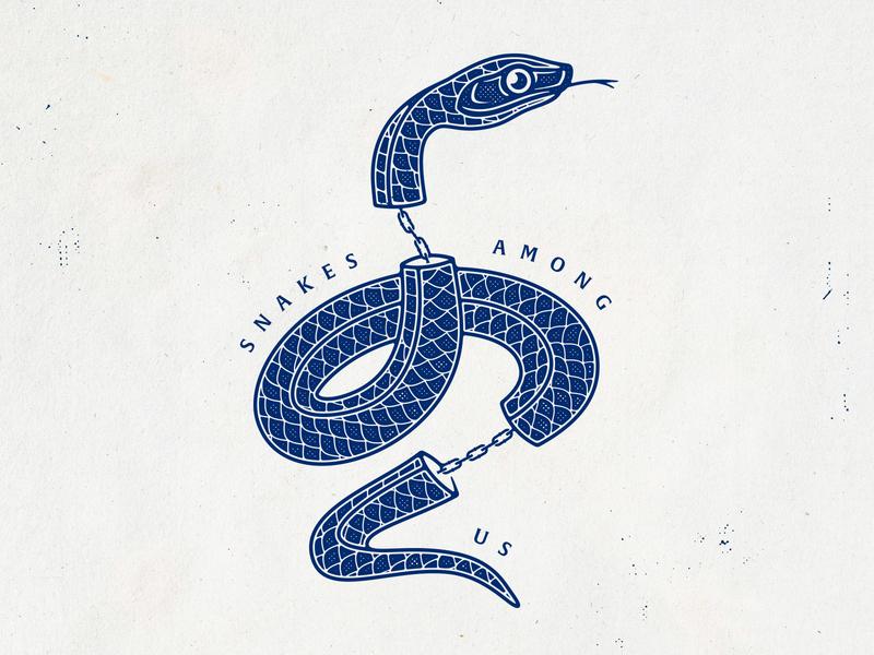 Snakes Among Us tshirt art branding typography snake badgedesign traditional tattoo graphic design vector photoshop illustrator illustration