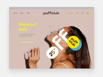 Puffclub cannabis ux ui weed logo brand identity branding