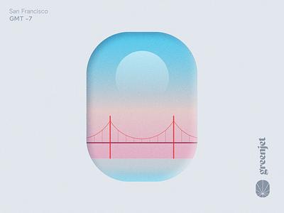 GreenJet Destinations: San Francisco brand identity design illustration branding