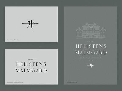 Malmgård typogaphy hospitality hotel identity logo