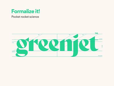 Greenjet wordmark typography cannabis logo weed branding