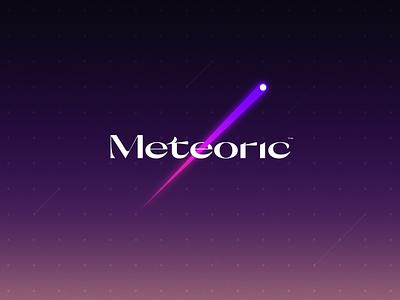 Meteoric logo design brand identity typography branding logo
