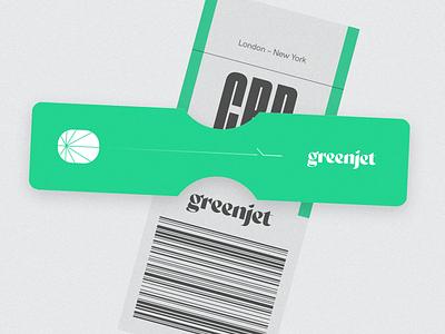 GreenJet badges flight airline brand identity cannabis weed logo branding