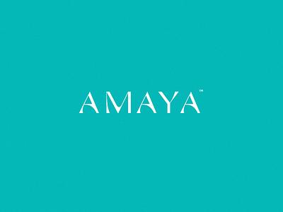 amaya typogaphy typography branding logo