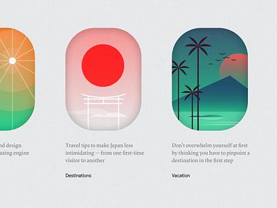 gj travel illustration brand identity