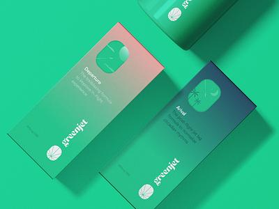 GreenJet Packaging packaging brand identity