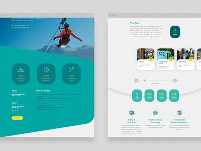 Zipline site webdesign uidesign ui