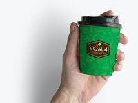 Take away paper cup for VOM.4 Coffee Shop