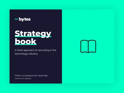 Bytes - Re-inventing technology recruiting branding book strategy green blue recruitment agency recruiter recruit recruiting recruitment
