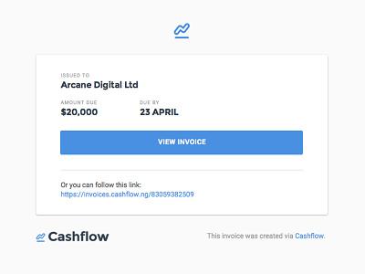 Cashflow Email Concept invoicing invoice cashflow email