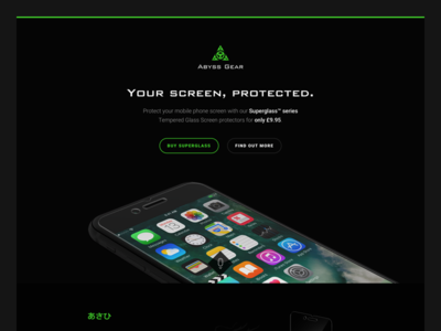 Abyss Gear - Superglass (Landing Page)