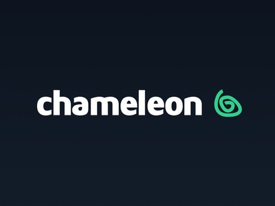 Chameleon Logo type blue green chameleon animal simple clean branding logo