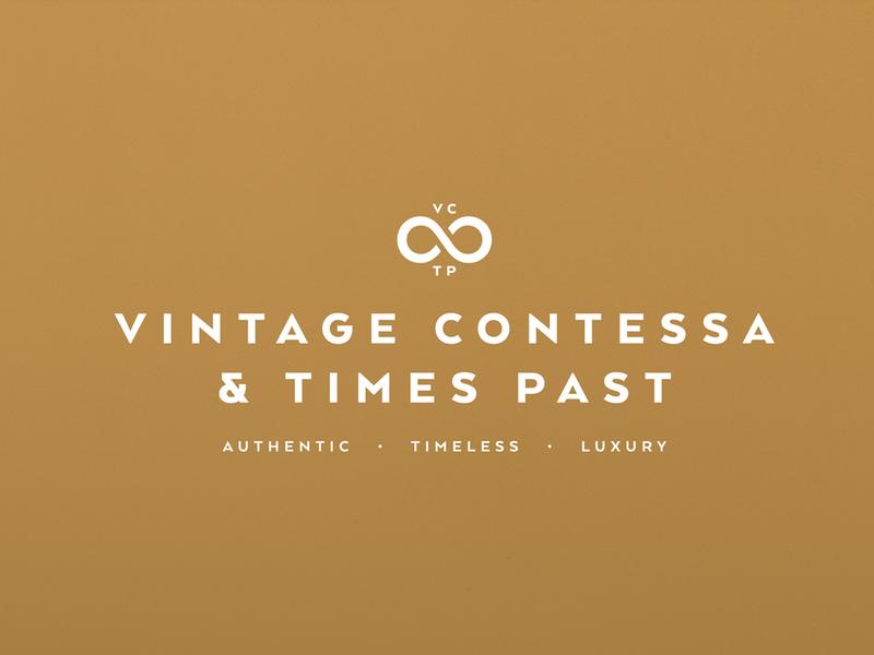 Vintage Contessa Logo design identity design typography luxury identity brand design branding logo logo design