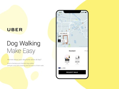 Uber PUP - Uber for Dog Walking App is Here!