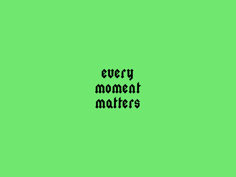 Every Moment Matters design
