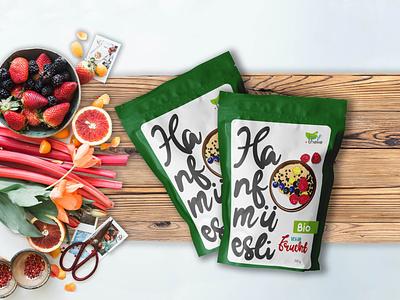 Müesli Package Design design label design illustration graphic illustration branding