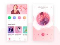 Music app concept for teens