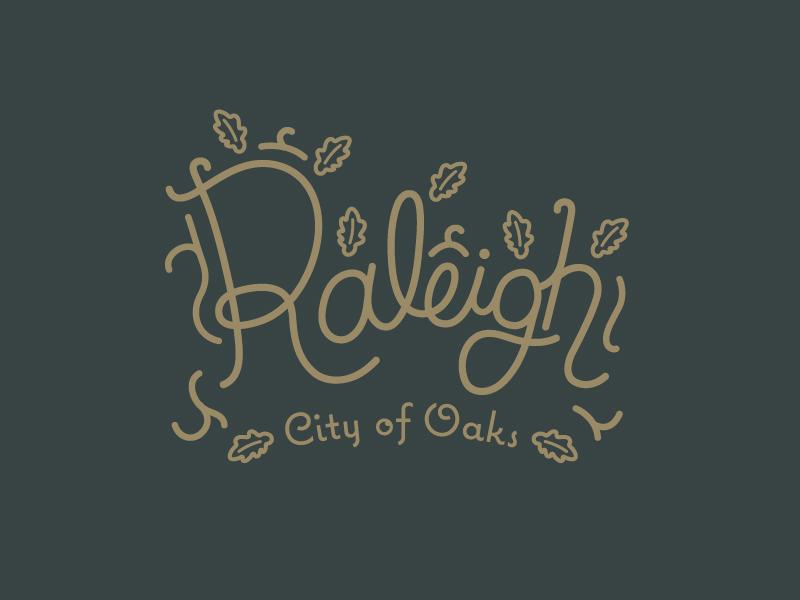 Raleigh tree raleigh nc raleigh oak leaf hand lettering