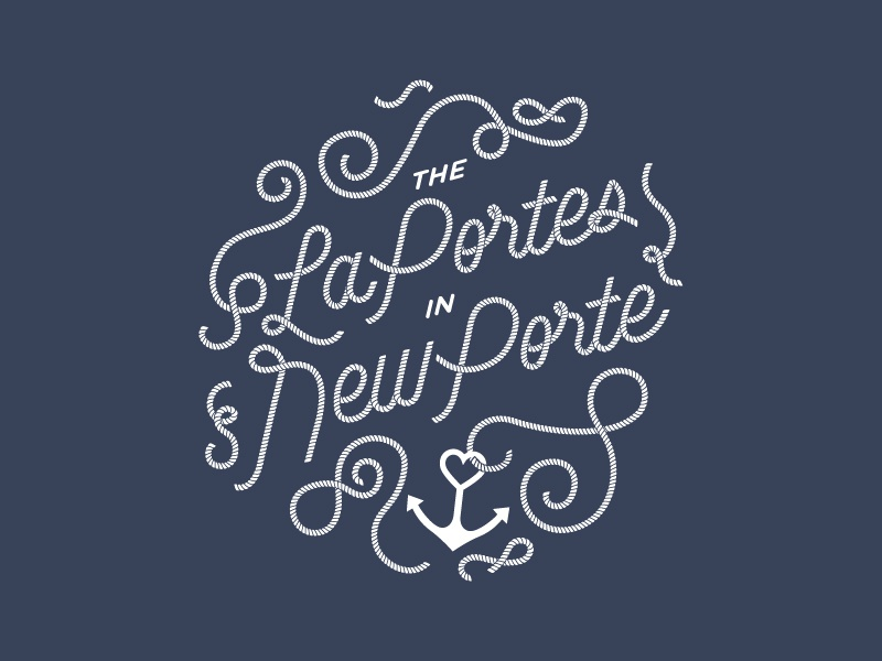 Laporte rope hand lettering