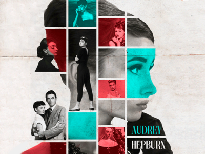 Collage photoshop collage hollywood films audrey hepburn