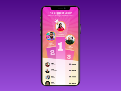 Leaderboard gamification competitions obesity mobile app adobexd uichallenge uidesign
