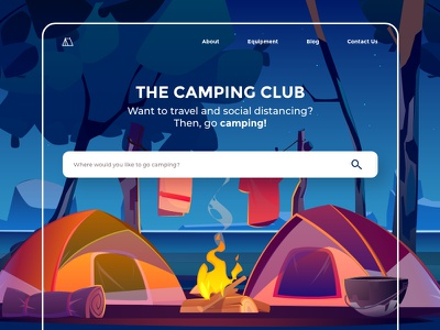 Camping travel camping website webdesign ui ux design design adobexd uidesign