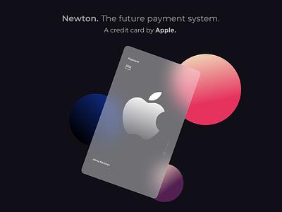 Glassmorphism creditcard apple figma uidesign