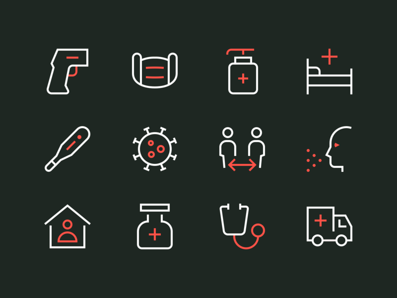 Coronavirus Icons Pt. 1 stayathome coronavirus virus icon perfect minimal outline rodchenkod iconset illustration icons