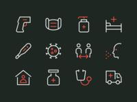 Coronavirus Icons Pt. 1 stayathome coronavirus virus icon perfect minimal outline rodchenkod iconset illustration icons