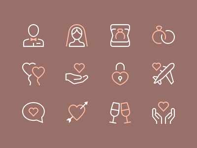 Romance Icons romance love stroke outline clean iconset minimal illustration icons