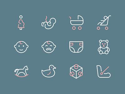 Family/Kids Icons kids perfect rodchenkod outline icon illustration minimal icons
