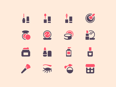 Makeup Icons beauty makeup iconset perfect outline illustration minimal icons