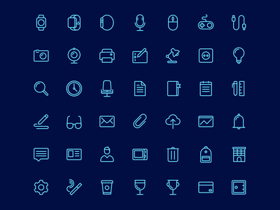 Office Icon Set sketch resources freebie icon set outline icons free rodchenkod perfect office outline icons