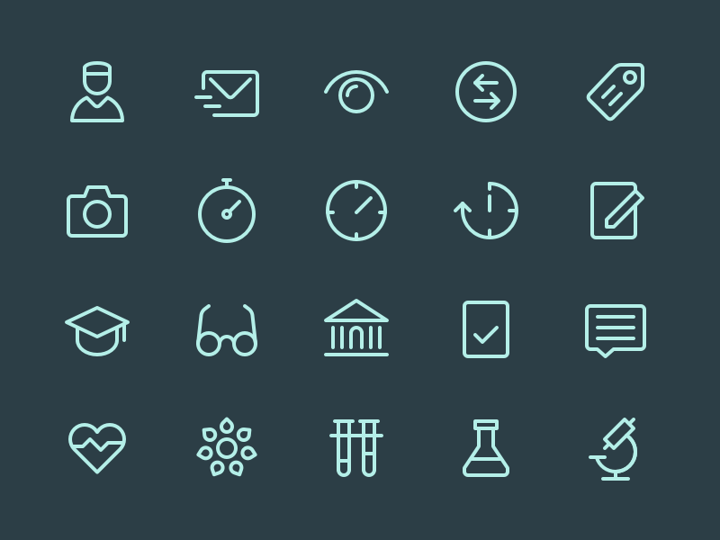 Health App Icons rodchenkod perfect iconset medical health icons