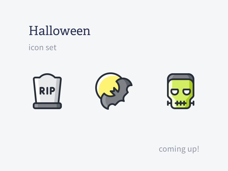 Halloween II frankenstein moon bat halloween ghost iconset outline icons rodchenkod