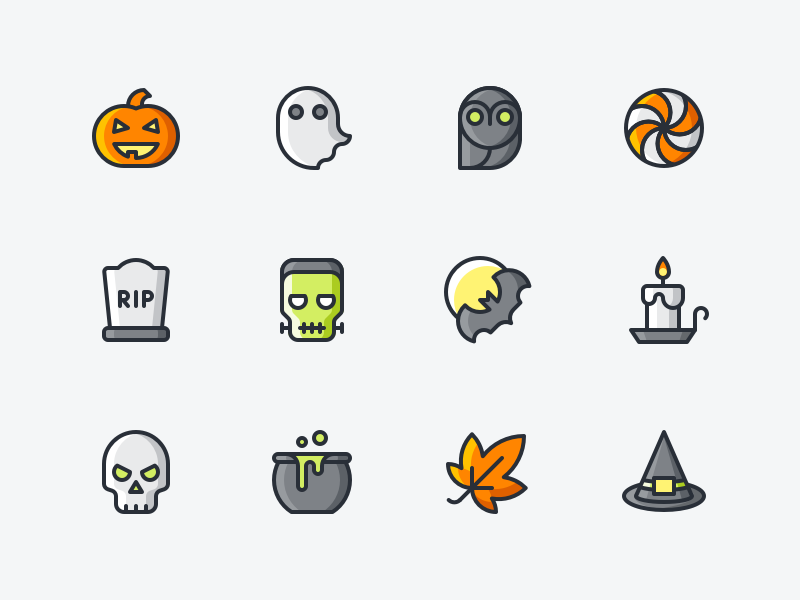 Halloween Icon Set by Denis Rodchenko - Dribbble
