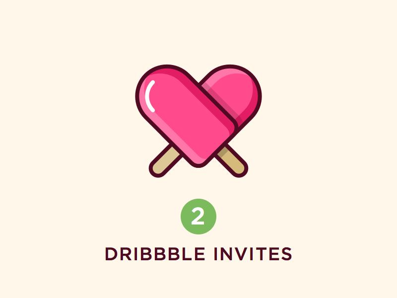 Dribbble Invites best icon icecream shot player portfolio invites dribbble
