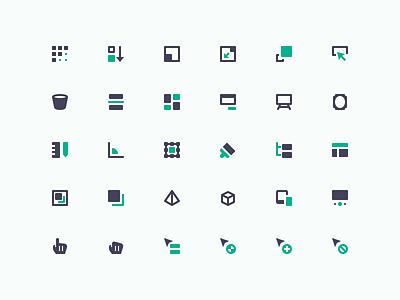 Design & Development (mini icons) cursor ui pixel development design mini glyph icons