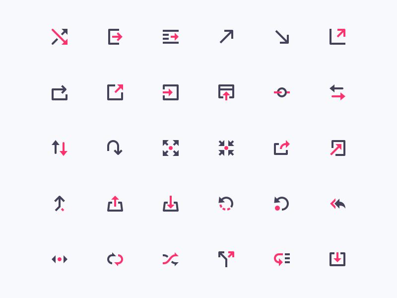 Arrows (mini icons) glyph pixel interface perfect mini icons ui arrows