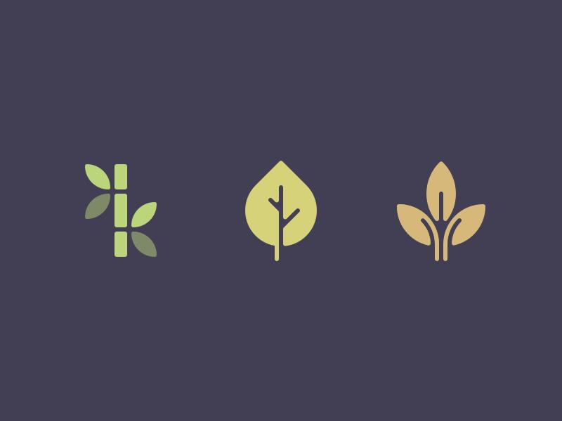 Leaves summer autumn illustration mark perfect minimal color leaf icon
