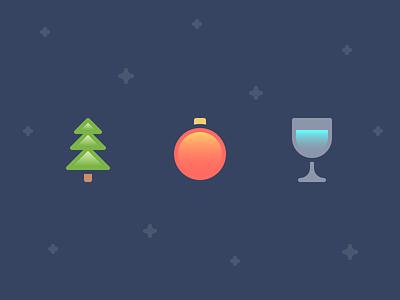 Minimal Christmas fantasy new year holiday snow spruce illustration christmas minimal icon