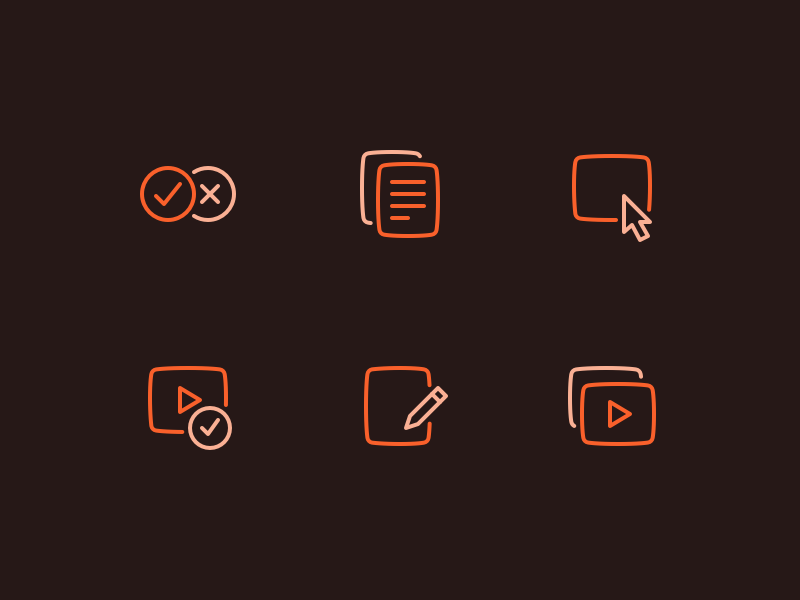 LMS icons new media edit minimal file system illustration fantasy outline icons