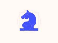 Geometric Сhess Horse