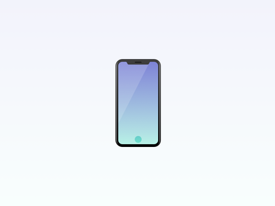 iPhone 8 ios 11 iphone 8 perfect gradient minimal phone illustration icon