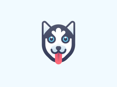 Husky husky iconset minimal animals dog illustration icon