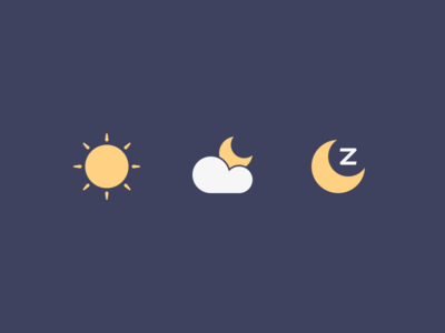 Times Of Day grid perfect minimal moon cloud weather sun illustration icons