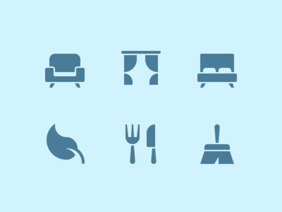 Hotel Icons hotel cleaning illustration services furniture iconset icon