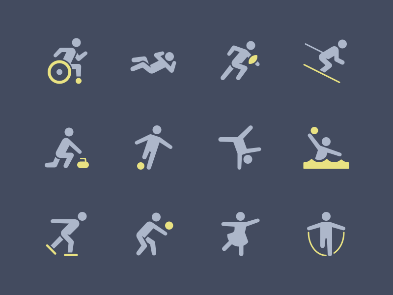 Sport Silhouettes volleyball @ @stating @illustration @waterpolo @soccer @nucleo @glyph @sport @icons