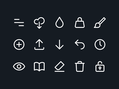 AppForType Icons ui editing camera app sketch iconset outline minimal icons