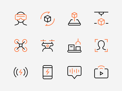 Technology Icons perfect technology illustration icon minimal iconset outline icons